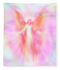Archangel Metatron Reaching Out In Compassion Fleece Blanket