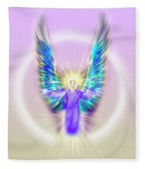 Archangel Michael - Pastel Fleece Blanket