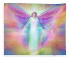Archangel Raphael Healing Fleece Blanket