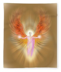 Archangel Raphael - Pastel Fleece Blanket