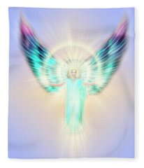 Archangel Uriel - Pastel Fleece Blanket