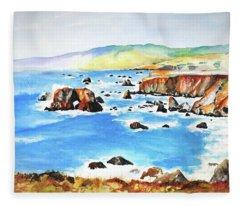 Arched Rock Sonoma Coast California Fleece Blanket