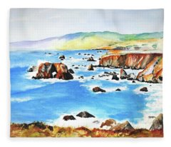 Arched Rock Sonoma Coast California Fleece Blanket