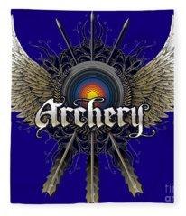 Archery Wings Fleece Blanket