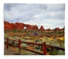 Arches National Park Fleece Blanket