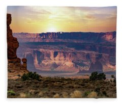 Arches National Park Canyon Fleece Blanket