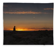 Arches National Park Sunset Fleece Blanket