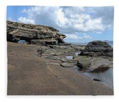 Arches  Puerto Egas James Bay Santiago James Island Galapagos Islands Fleece Blanket