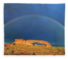 Arching Over Fleece Blanket