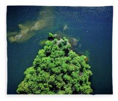 Archipelago Island - Aerial Photography Fleece Blanket