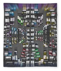 Architectural Abstraction Fleece Blanket