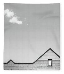 Architectural Ekg Fleece Blanket