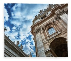 Architectural Majesty On Top Of The Sky Fleece Blanket