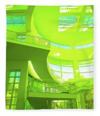 Green Splash Architecture Fleece Blanket