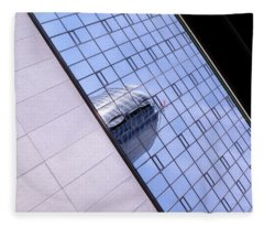 Architecture Photo On Its Side With Windows And Cement In Grand Rapids Michigan Fleece Blanket
