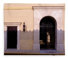 Archway In An Alley In Downtown Winter Park Florida Fleece Blanket