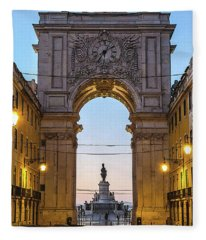 Arco Da Rua Augusta At Sunrise Fleece Blanket