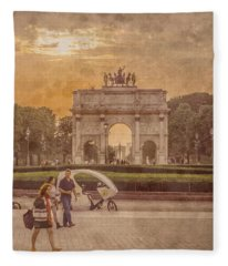 Paris, France - Arcs Fleece Blanket