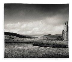 Ardvreck Castle Panorama Fleece Blanket