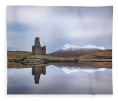 Ardvreck Castle Reflection Fleece Blanket