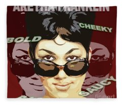 Aretha Franklin Bold Cheeky Sassy Saucy Fleece Blanket