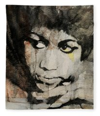 Aretha Franklin - Don't Play That Song For Me  Fleece Blanket
