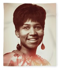 Aretha Franklin I Say A Little Prayer Fleece Blanket