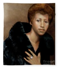 Aretha Franklin Once Upon A Queen Fleece Blanket