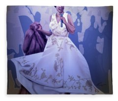 Aretha Franklin Rock Steady Fleece Blanket