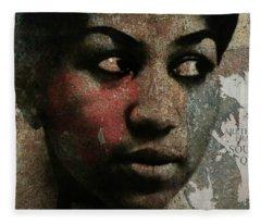 Aretha Franklin - Tribute Fleece Blanket