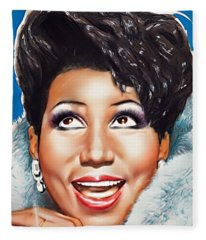 Aretha Queen Of Soul Fleece Blanket