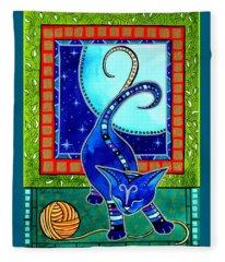 Aries Cat Zodiac Fleece Blanket