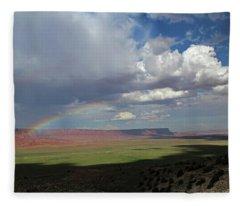 Arizona Double Rainbow Fleece Blanket