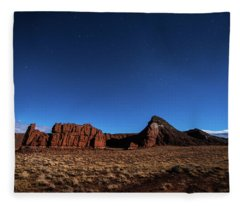 Fleece Blanket featuring the photograph Arizona Landscape At Night by Todd Aaron
