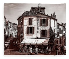 Arles, France, In Sepia Fleece Blanket