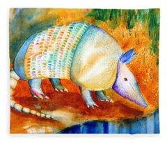 Armadillo Reflections Fleece Blanket