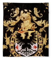 Armorial Plates From The Order Of The Golden Fleece - 5  Fleece Blanket