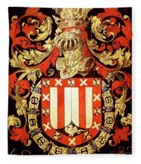 Armorial Plates From The Order Of The Golden Fleece - 70 Fleece Blanket