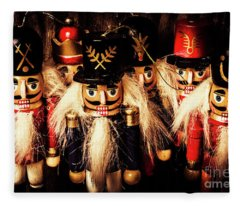 Army Of Wooden Soldiers Fleece Blanket