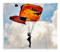 Army Paratrooper 2 Fleece Blanket