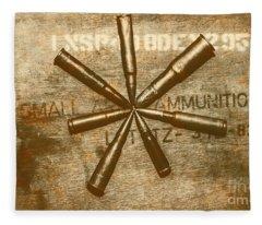 Army Star Bullets Fleece Blanket