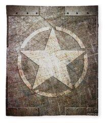 Army Star On Steel Fleece Blanket