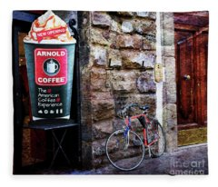 Arnold Coffee Bicycle Fleece Blanket