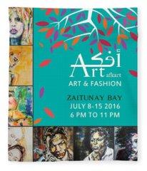 Art And Fashion Exhibit, July 2016 Fleece Blanket