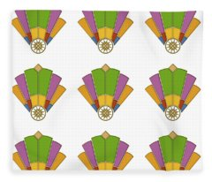 Art Deco Fan 2 Multiview Fleece Blanket