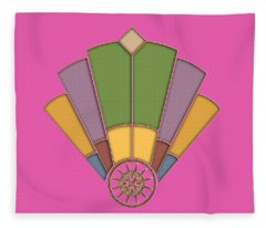 Art Deco Fan 2 Transparent Fleece Blanket