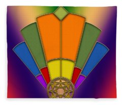 Art Deco Fan 5 Fleece Blanket