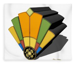 Art Deco Fan 8 3 D Fleece Blanket