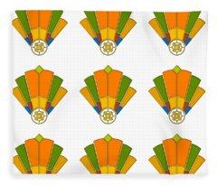 Art Deco Fan 8 Multiview Fleece Blanket