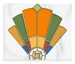 Art Deco Fan 8 Transparent Fleece Blanket